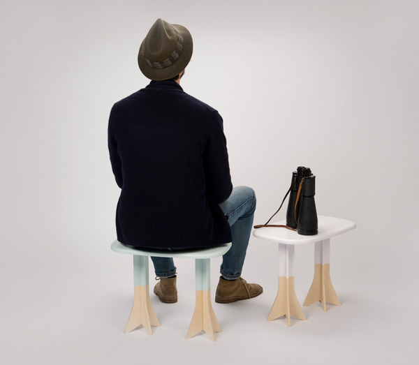 Pig on Wings - Stool by Gentle Giants