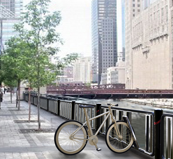Bicycle Fence - Bicycle Racks by Hyupsung University Students
