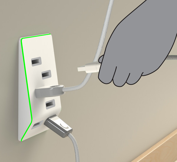 Bolt USB Outlet by Jeffrey Pettit