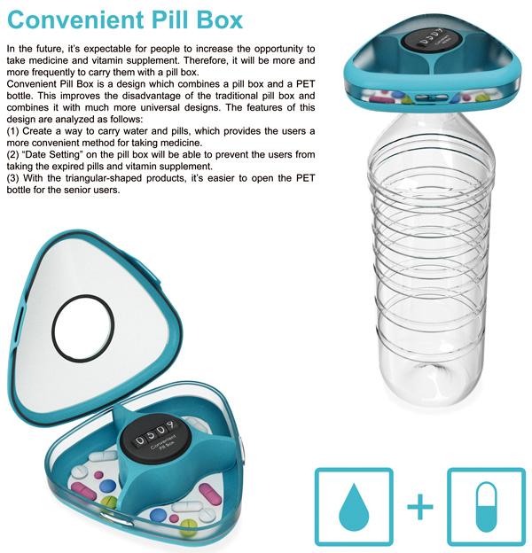 Convenient Pill Box by Hsiang-Han Hsu, Tzu-I Wen, Jhih-Jie Wang & Yih-Wenn Luo