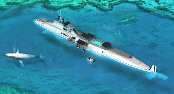 Migaloo - Private Submarine Concept by motion code: blue