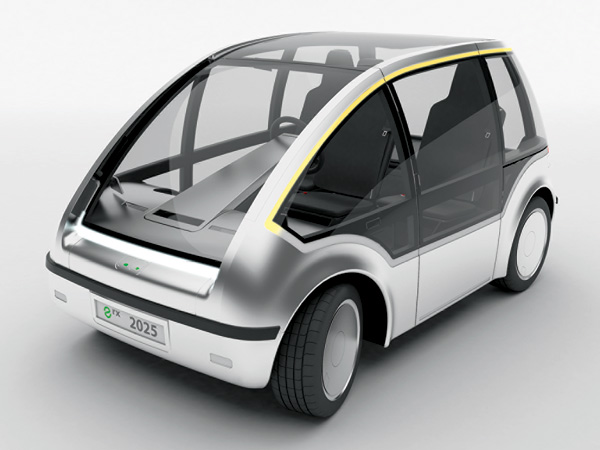 e rx – Battery Powered Electric Vehicle Concept by Maila Thon