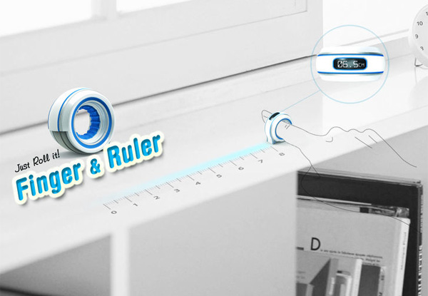 Finger&Ruler – Rolling Ruler Measuring Tape by Shim Ha Eun