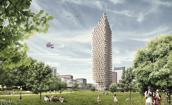 Wooden Skyscraper by Berg | C.F. Møller Architects