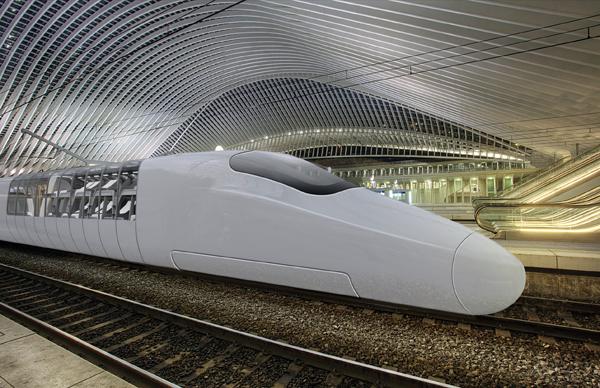 JIYUKŪKAN - High Speed Train by Marco Peter