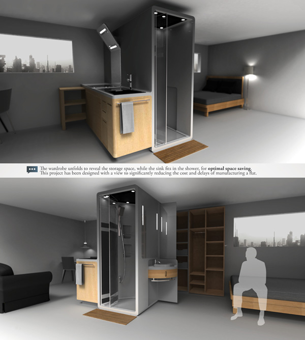Room division done right yanko design for Smart kitchen design small space