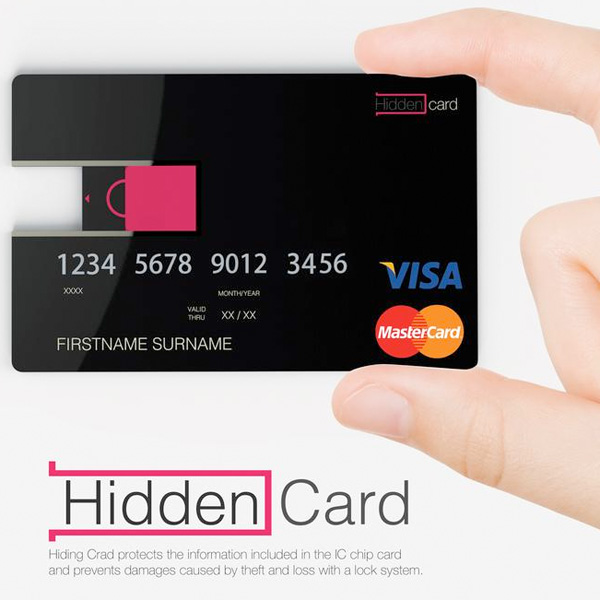 Hidden Card – Secured Credit Card Re-design by Design Team Korea Armed Forces Printing Publishing Depot - Korea Design Membership