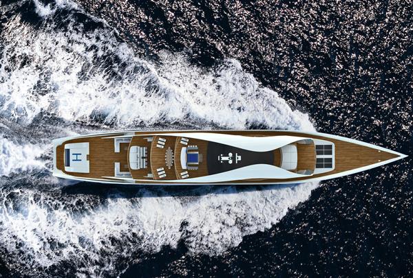 UNA - 90m Autonomous Yacht by Graham Kukla