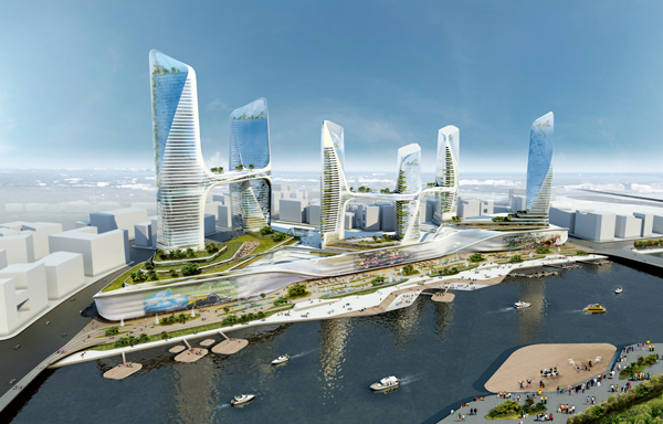 Central Business District in Tongzhou, China - by UNStudio