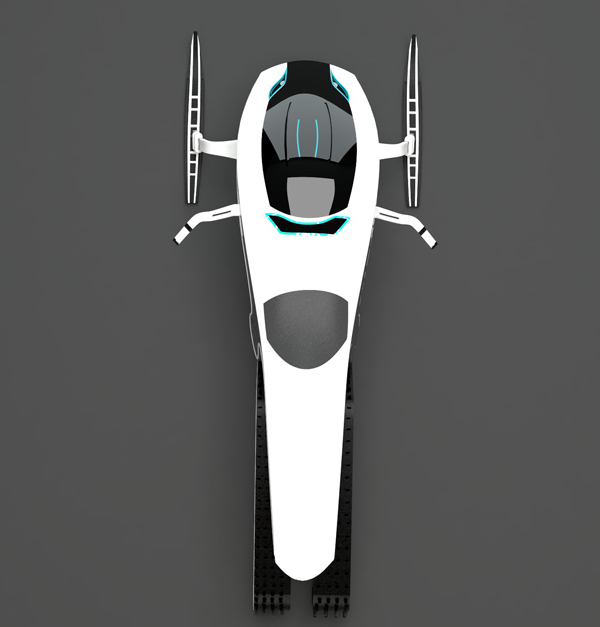 Tron-approved Snowmobile