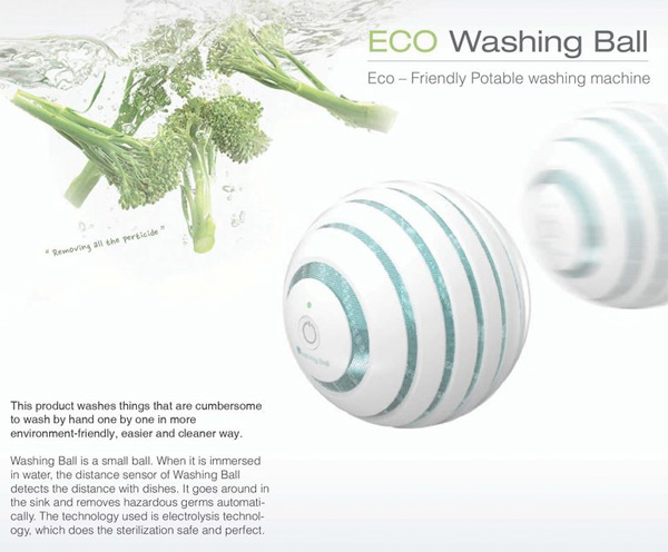 ECO Washing Ball – Food Sterilizing Balls by Yeonjin Jo