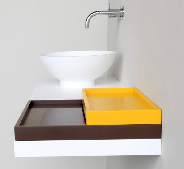 HI-MACS NotOnlyWhite Bathroom Collection by Marike Andeweg