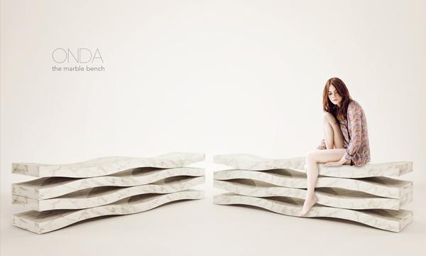 ONDA - Marble Bench by Paolo Ulian & Moreno Ratti