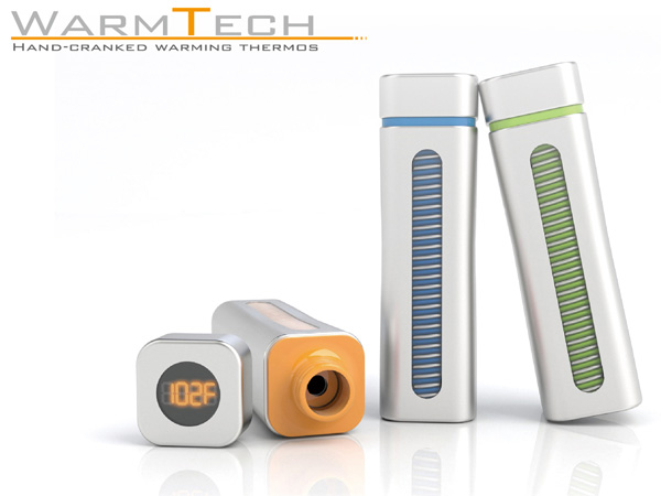 Warm Tech Bottle – Hand Cranking Thermos by Yu-Chiu, Cheng-Yu Li, Yu-Hsien Lin and Kai-Cheng Chang