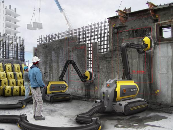 ERO - Concrete Recycling Robot by Omer Haciomeroglu