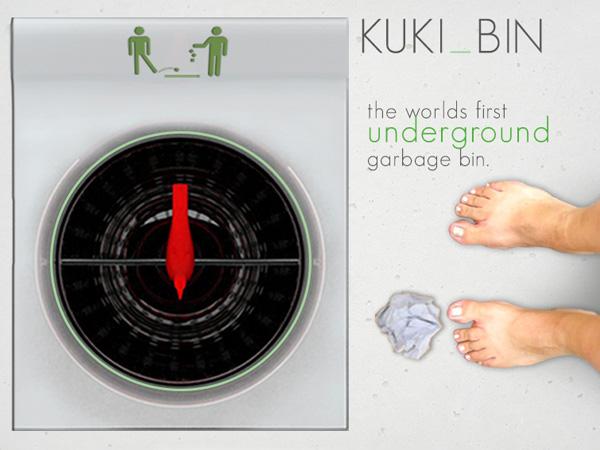 KUKI BIN – Underground Trash Bin by Tsewang Gensapa & Mun Kim
