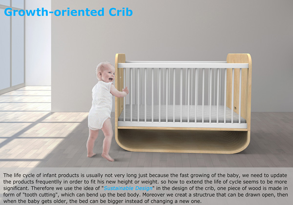 Growth Crib – Baby Crib That Turns Into A Bed by Shang Zhi, Qi Qiu & Surong Sun