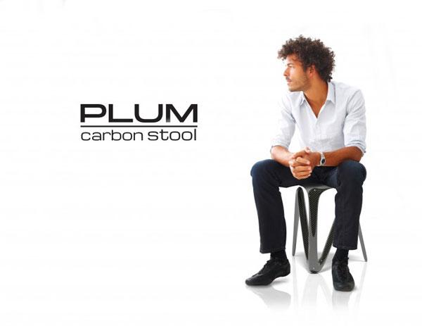 Plum Stool by Alvaro Uribe