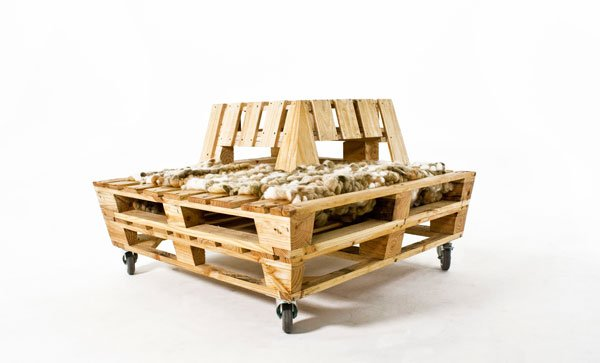 Re-Stacked Pallet Lounger by John van Huenen, Andrew Wilkie, Stephanie Ward, Ursula Davy, & Hannah Hutchinson