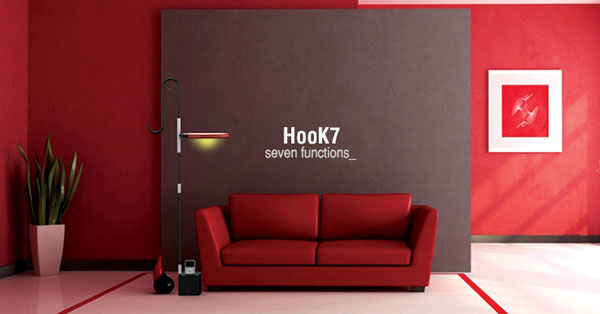 Hook7 - Light/Hanger/Clock Combo by Dongsung Jung