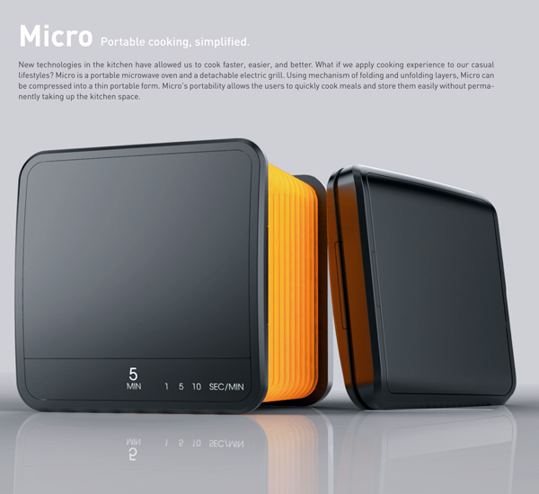 Micro - Portable Microwave and Grill by Richard Park