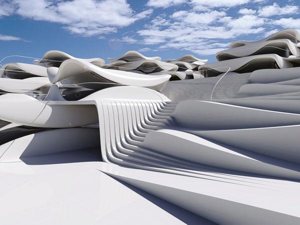 همپوشانی ساختمان ها با یکدیگر