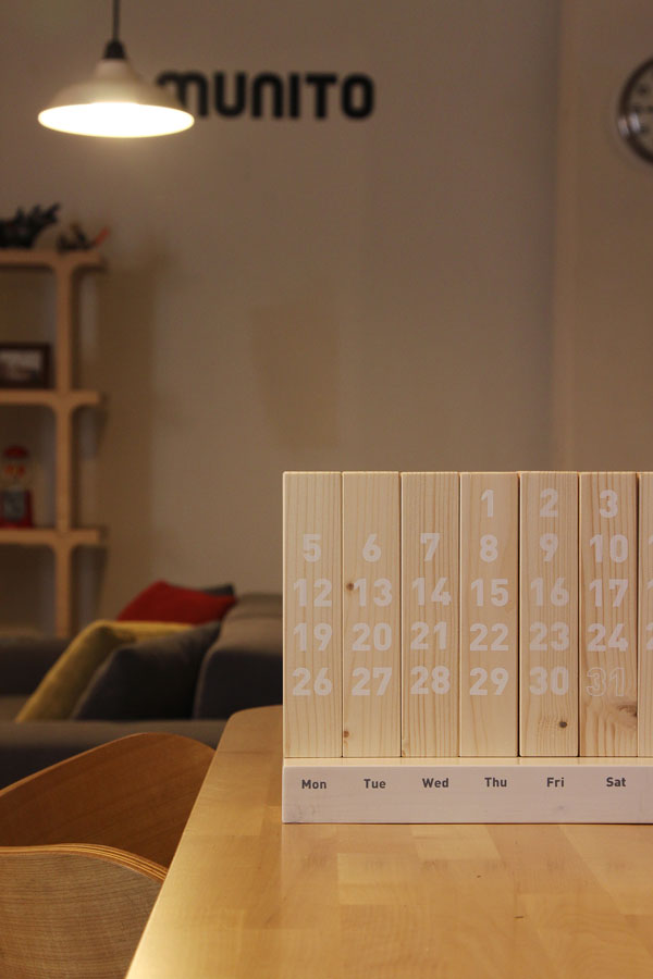 Wood Calendar by dialoguemethod for MUNITO
