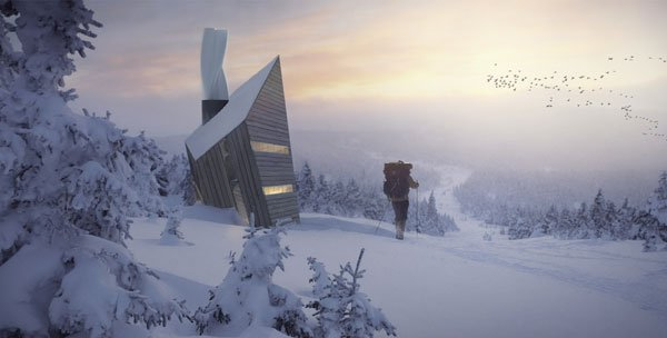 Huba - Mountain Shelter by Michal Holcer & Malgorzata Blachnicka