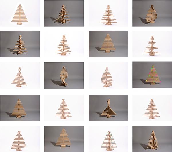 One Two Tree - Sculptural Christmas Tree by Lucy and Antony Aris