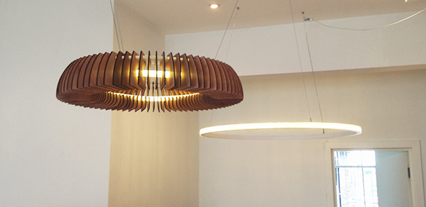 Hanko Large Suspension Light by Ian Cameron