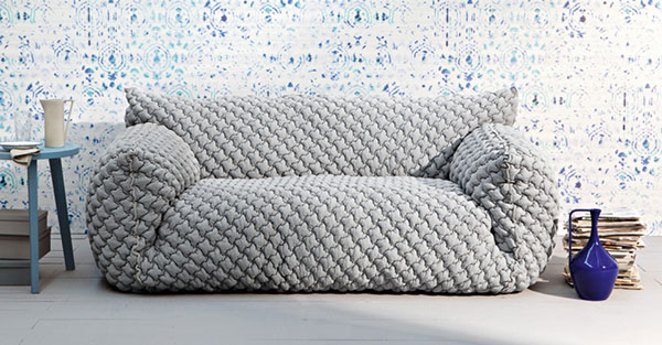 Goose Down Quilted Sofa Yanko Design