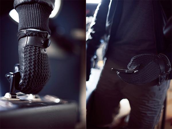 Mujjo Leather Crochet Touchscreen Gloves