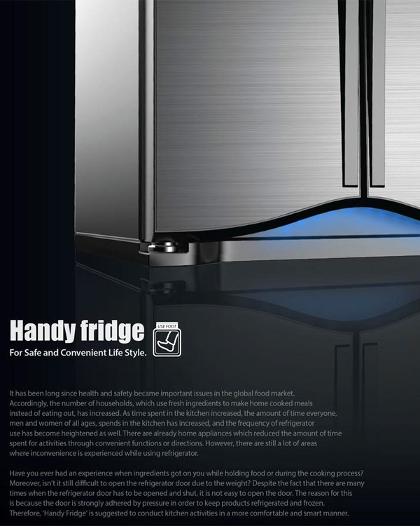Handy Fridge – Refrigerator Redesign by Jung Jun Park