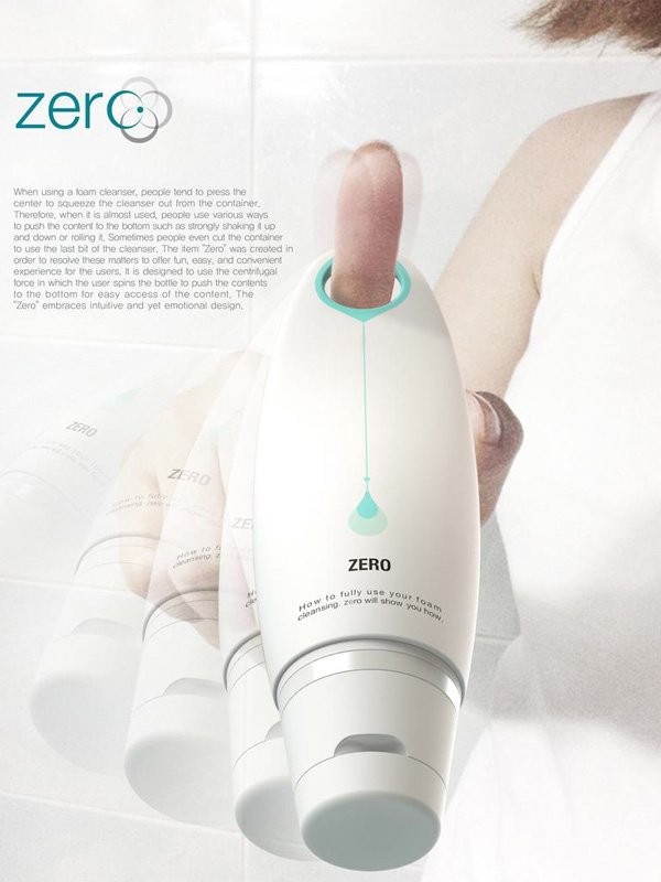 Zero – Foam Cleanser Bottle Design by Yongwoo Shim