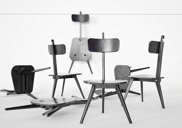 Sedia3 - Folding Chair by DORODESIGN