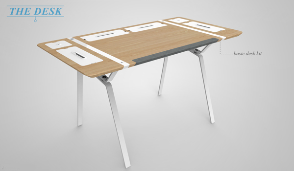 Desk for the organizationally obsessed!