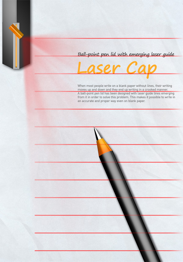 Laser Cap – Ballpoint Pen with Laser by DCENTER [Jin Won Heo, Da Som Kim, Chang Man Son, Kyung Han Yoon & Soon Sik Choi]
