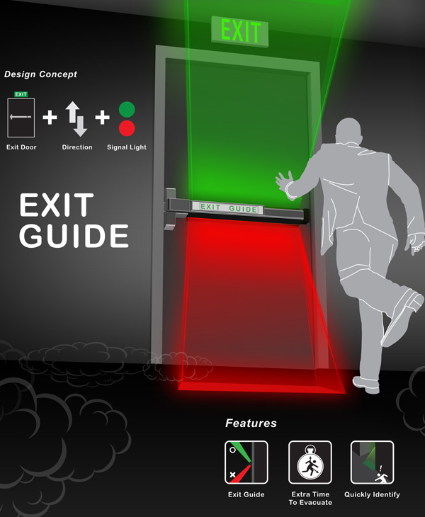 Exit Guide – Emergency Exit Door by Shang-Yi Lin