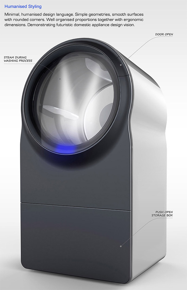 Innova Steam Washer Dryer by Rinaldo Filinesi