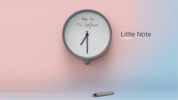Little Note Clock by Tim Defleur