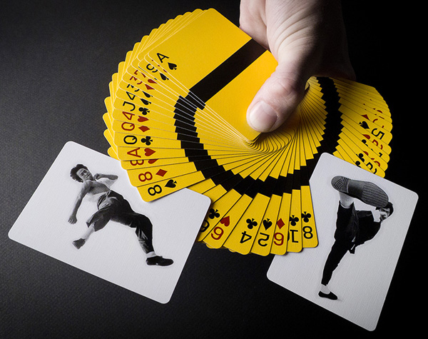 Bruce Lee And His Cards