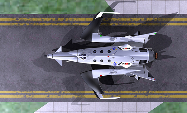 "M2G ""White Bat"", Spaceship for Space Business by Oscar Viñals"