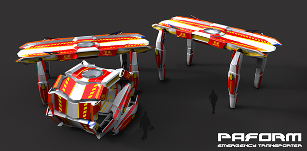PAFORM - Autonomous Emergency Transporter by Jex Chau