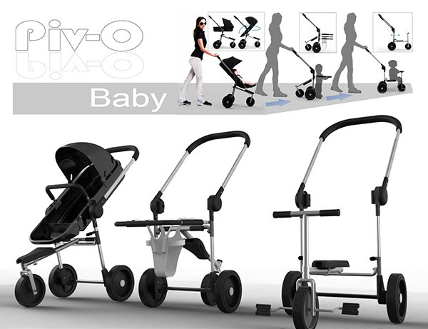 The stroller that grows up too…