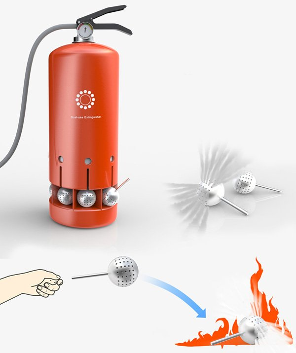 Fire Extinguisher With Balls by Zhang Zhicheng, Bu Jia, Bao Haimo & Xu Kun
