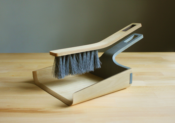 Alfred - Broom and Dustpan by Tom Chludil