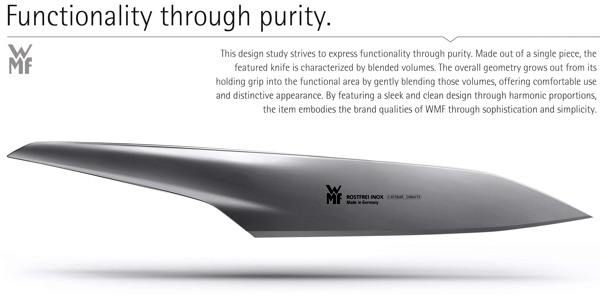 WMF Kitchen Knife Concept by André Marsiglia