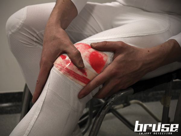 Bruise - Smart Injury Detection Suit for Paraplegic Athletes with Reduced or Total Loss of Pain Sense by Dan Garrett, Elena Dieckmann, Ming Kong & Lucy Jung