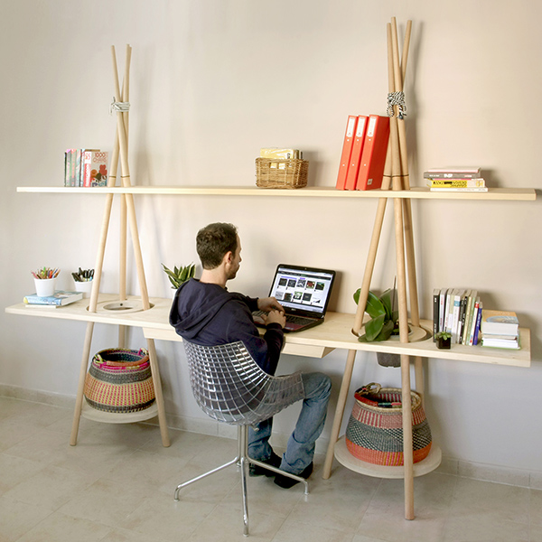 The Tipi Shelving System by JOYNOUT