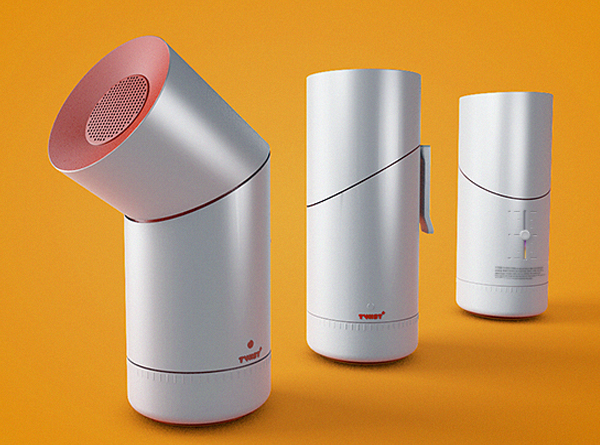 Twist+ - Dry asthma inhaler by Diana Dumitrescu for Colorbitor